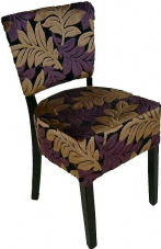 Burbank Wooden Side Chair with Upholstered Fabric Seat & Back